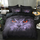 Black Leopard New 100% Cotton Quilt/Doona Cover Set King Queen Size Bed Linen