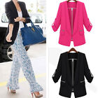 NEW Womens Slim Top Long Sleeve Suit Blazer Jacket Coat Outerwear 2 Color M L XL