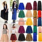 Women's Girl Chiffon Pleated Retro Long Maxi Dress Short Midi Mini Skirt WST