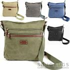 Canvas Shoulder Messenger Cross Body Work Travel Bag (5 Colours Available)