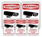 """VIDEO SURVEILLANCE STICKERS 5 PC Set (3"""" & 5"""") - Different Styles to Choose"""