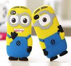 Cute 3D 2D Minions Despicable Me 2 Case Cover For iPhone 5S 5 5C