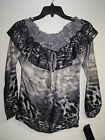 Top blouse by Love tease NWT Size S L animal print smoked top