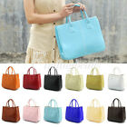 NEW Women's Faux Leather A4 Single Shoulder Bag Handbag Purses 12 Candy Colors