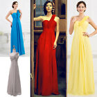 Flowers Maxi 1 Shoulder Bodycon Chiffon Evening Formal Party BallGown Prom Dress