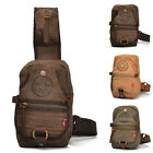 JS Men Vintage High Quality Canvas Real Cow Leather Backpack Casual Travel Bag