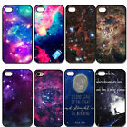 Starry Night Galaxy Space Hard Plastic Case Cover For iPhone 4 4S 5 5G 5S 5C
