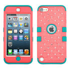 For iPod Touch 5th 6th Gen HYBRID IMPACT TUFF Diamond Case Phone Cover Accessory