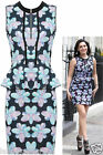 Womens Ladies Kelly Brook Celebrity Floral Print Bodycon Party Sleeveless Dress