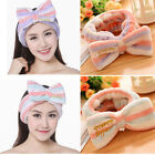 Sweet Girls Bowknot Shower Bath Spa Headband Make Up Cosmetic Shower Hair Band