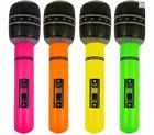 1 x INFLATABLE BLOW UP MICROPHONE Gr8 Fun For Fancy Dress Party Accessory