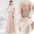 UK STOCK Charm Noble Party Maxi Gown Women Evening Prom Bridesmaid Wedding Dress