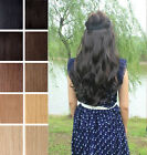 "Full Head Clip in Hair Extensions All Colors Shades Straight Wavy Curly 20"" 22"""