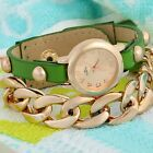 Women's Dress Watches Casual Punk Leatheroid Alloy Chain Belt Wristwatches New