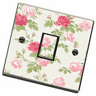 Pink Floral Shabby Chic Light Switch Cover,Skin,Sticker.Decal Any Room
