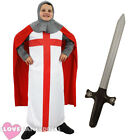 BOYS MEDIEVAL KNIGHT COSTUME CHILDS ST GEORGES DAY FANCY DRESS ENGLAND CRUSADER