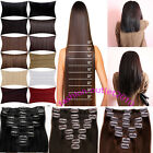 145g 8 Piece Clip in synthetic hair extensions Full Head 18clips real as human