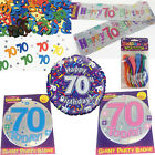 70th Birthday Party Decorations - Male Female Age 70 Balloons Banner Badge Foil
