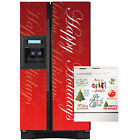 Appliance Art Happy Holidays Script Combo Refrigerator/ Dishwasher Cover