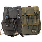 Military Style Cotton Canvas Backpack For School Hiking Camping Outdoor BQ6866