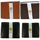 COBB & CO - Men's Leather RFID Protected Wallet 12CC with Coin-BLK or BRN 54508