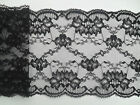 "~Pretty Black Wide Scalloped Nottingham Lace 14cm/5.5"" Sewing/Trim/Costume"