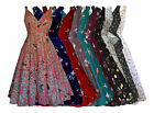 WOMENS 40's 50's VINTAGE STYLE BIRD PRINT COTTON OR POLYESTER DRESS NEW 8 - 20
