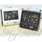 New Kitchen Timer LCD Large Digital Count-Down Up Clock Loud Alarm White Black O