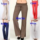 New Women's LOVE TREE Linen Pants with Smocked elastic waist band S,M,L