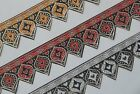 """3 Yd Jacquard Trim 2.30"""" wide Woven Border Sew Embroidered Ribbon Lace T827"""