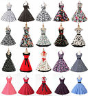 NEW COTTON BRIDESMAID FLORAL 50s 60s ROCKABILLY VTG SWING PROM HOMECOMING DRESS