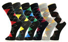 Fashion Mic Mens Cotton Blended Dress Socks 6 Pairs Size 10-13