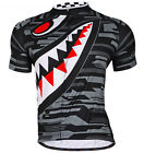 Men Cycling Jersey Bicycle Breathable Top Bike Clothing T shirts Cycle Gear Gray