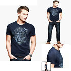 2014 Brand New JS Slim Fitted Mens Short-Sleeve Round Neck T-Shirt Top 4 Size PJ