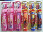 Kids girls boys Spiderman/Barbie Colgate Electric Battery Toothbrushes NEW
