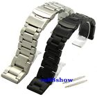 New Heavy Strap 22 24 26 Thick 6 mm Brushed Solid Stainless Bracelet Watch Band