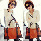 2014 Lastest Brown Lady Designer Women Faux Leather Totes Handbag Shoulder Bag