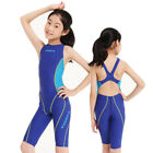 Yingfa Girls Chirldren One Piece Full Knee Racing Training Swimwear Swimsuit