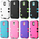 Hybrid Impact Shockproof Matte Armor Silicone Case For Samsung Galaxy S5 i9600