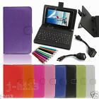 "Keyboard Case Cover+Gift For 7"" Prontotec 7/Noria 7 Android Tablet GB6"