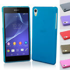 Thin Crystal Clear Soft Gel Silicone Case Cover For Sony Xperia Z2 L50w + Stylus