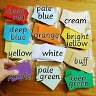 Busycards 40 plain blank very thin index craft or flash cards choice of colours