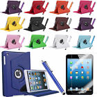 For Apple iPad Mini Air 2/3/4 360 Degree Rotating PU Leather Case Cover w Stand