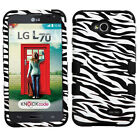 For LG Optimus L70 IMPACT TUFF HYBRID Protector Case Skin Phone Cover Accessory