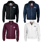 Lonsdale Harrington Jacket Black Oxblood Blue White Punk Goth Skinhead Slim-Fit
