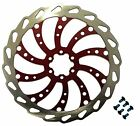 Clarks Bicycle Cycling Wavey 6 Bolt Steel Disc Brake Rotor in RED