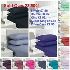 """EXTRA DEEP 16""""/40CM FITTED PERCALE SINGLE,DOUBLE, KING, SUPER KING SHEETS"""