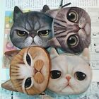 Children Kid Cute Cat Face Zipper Case Coin Purse Wallet Makeup Pouch Buggy Bag