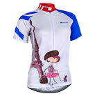 2014 New Cycling women girls Jersey Quick Dry Breathable Clothing Bike Size S-XL