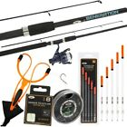 Float Rod And Reel Set 7ft 2 Piece For Coarse Carp Fishing + Floats Hooks Shot